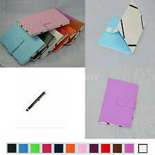 "Colorful Folio Leather Case+Stylus For 7"" HP Slate 7 Extreme/Slate 7 HD Tablet"