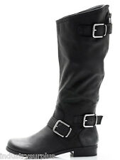 Fergalicious By Fergie SaddleUp Black Knee High Western Fashion Boots