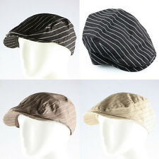 New Men's Pinstripe Newsboy Flat Cabbie Beret Duckbill Conductor Driving Cap Hat