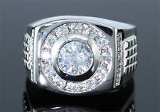 Cubic Zirconia Studs White Gold Plated Champion Ring R134