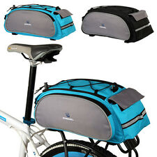 Black/Blue 2014 NEW 13L Cycling Bicycle Bag Bike rear seat bag Shoulder Bag Tot