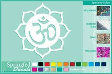 BUDDHIST LOTUS FLOWER Cut Vinyl Decal #2 Car Sticker CUSTOM SIZES & COLORS!