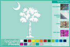 SOUTH CAROLINA PALM TREE & MOON Cut Vinyl Decal Sticker CUSTOM SIZES & COLORS!