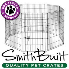Dog Playpen Crate Fence - Puppy & Pet Kennel Play Pen Exercise Cage - 8 Panel