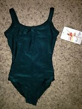 NEW Bal Togs Dance Jazz Gymnastics Hunter Green Leotard 17900 Child Girls M 8-10