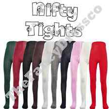Nifty Plain Tights Weddings Ideal for School Uniform Newborn-Age 12 Cotton