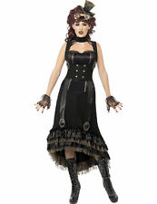 Ladies Steampunk Vampire Halloween Outfit Fancy Dress Victorian Costume