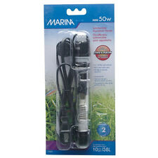"Hagen Marina 6"" SUBMERSIBLE MINI FISH AQUARIUM HEATER  25W or 50W  Pre Set"