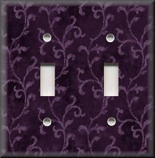 Light Switch Plate Cover - Tuscan Vines - Plum Purple - Kitchen Home Decor