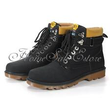 Men's Fashion Casual Martin Boots Sneakers Lace-Up Winter Warm Ankle Snow Shoes