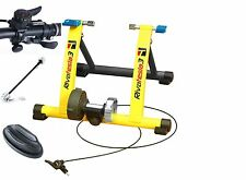 NEW 2015 BIKE CYCLE TURBO TRAINER MAGNETIC RESISTANCE 6 LEVELS FREE RISER BLOCK