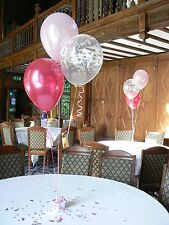 Happy Birthday Party Helium Balloons - 15 Decorations - Many Ages & Colours