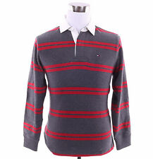 Tommy Hilfiger Men Long Sleeve Stripe Polo Classic Fit Rugby Shirt - $0 Shipping