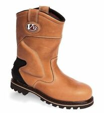 MENS POWERWEAR WATERPROOF VINTAGE LEATHER WORK STEEL TOECAP RIGGER BOOTS,V1250