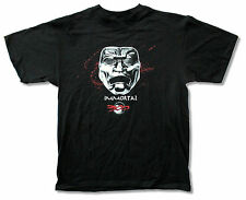"""300 MOVIE """"IMMORTAL"""" MASK BLACK T-SHIRT NEW OFFICIAL ADULT"""