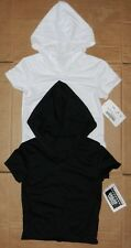 NWT Main Street Short sleeve hoodie hip hop white & black child adult sizes