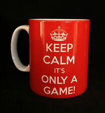 NEW KEEP CALM IT'S ONLY A GAME GIFT MUG CUP PRESENT SORE LOSER CHRISTMAS BAD