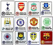 OFFICAL FOOTBALL CLUB - NO PARKING FAN SIGN METAL PLAQUE WALL FATHERS XMAS GIFT