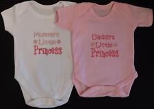 Daddy's Little Princess Baby Vest Grow Clothes Girl Funny Gift White Pink
