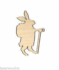 Peter Cotton Tail  Unfinished Flat Wood Shape Variety Sizes PC4305 Crafts