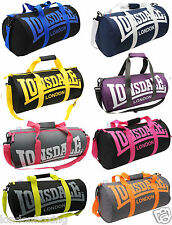 LONSDALE BAG NEW Barrel Shaped Gym Sports Travel Overnight Holdall FREE POST