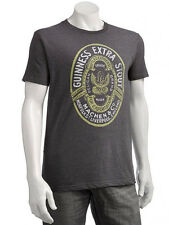 OFFICIAL LICENSED GUINNESS BEER EXTRA STOUT OVAL IRISH CHARCOAL TEE T-SHIRT BNWT