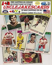 1976-77 OPC CLEVELAND BARONS Select from LIST SEE SCAN HOCKEY CARDS O-PEE-CHEE