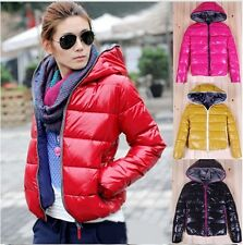 Fashion Women's Zip Up Short Cotton-padded Winter Warm Hoodie Jacket Coat Parka