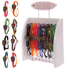 DAY OF THE DEAD MEXICAN SKULL WOVEN BRACELETS IN 8 ASSORTED COLOURS
