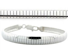 """6mm 8mm 10mm Omega Bracelets .925 Solid Sterling Silver Made in Italy 7"""" 7.5"""" 8"""""""