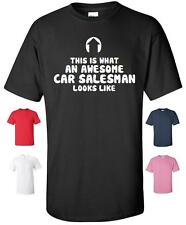 AWESOME CAR SALESMAN FUNNY T SHIRT MENS WOMENS CHILDRENS BIRTHDAY AUTO USED CARS