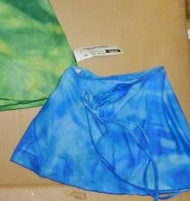 NWT Print Crepe Wrap Ballet skirt Ch/Adult szs 4 different patterns offered