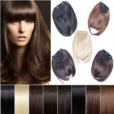 Sexy Lady Clip On Clip In Front Hair Bangs Fringe Hair Extension Black Brown USA
