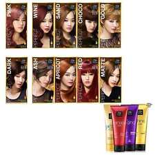 9 hair colors Red blonde Black dark Brown blue wine conditioner self care KOREA