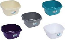 Large 32cm Plastic Square Kitchen Washing Up Bowl Basin Sink(Choose Your Colour)