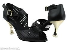 CD3003 Black Leather Salsa Ballroom Latin Tango Dance Shoes 2 5 and 3 inches