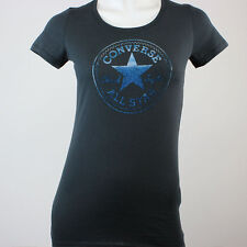 CONVERSE ALL STAR CHUCKS GIRLS T-SHIRT STAMPED PATCH SCHWARZ 05828C WOMEN SCHUHE