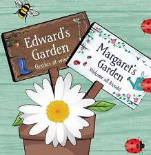 Personalised Name Garden Plaque H - J