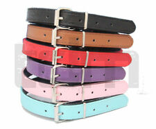 Padded Soft   Leather Dog Collar For All Size Puppies & Adult Dogs New