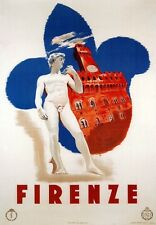 TV38 Vintage 1935 Firenze Florence Italian Italy Travel Poster Re-Print A2/A3/A4