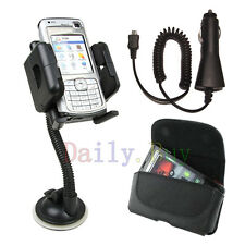 Car Mount Holder + Car Charger + Leather Case FOR LG Optimus Cell Phones 2013