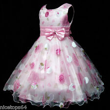 P3121 Pinks Princess Wedding Easter Party Flower Girls Dresses SIZE 3,4,5,6,7,8T