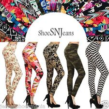 NEW Skinny Stretchy Sexy Color Tights Pants Flower Print Pattern Leggings Floral