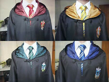 Harry Potter Robe Cloak Cape Gryffindor/Hufflepuff/Slytherin/Ravenclaw With Tie