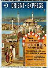 TX96 Vintage Orient Express French Railway Train Travel Poster Re-print A2/A3/A4