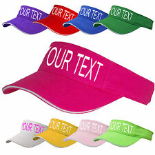 PERSONALISED SUN VISOR PINK CANCER CHARITY AWARENESS HEN NIGHT DO CUSTOM PRINTED