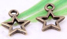 Wholesale 30/62/140/420Pcs Bronze Plated (Lead-Free)Star Charms  13x11mm
