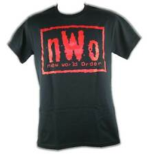 nWo Red Logo New World Order Mens Black T-shirt