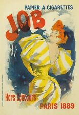 AP01 Vintage 1889 JOB Cigarette Paper French Advertisement Poster A1/A2/A3/A4