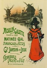 AP09 Vintage Moulin De La Galette French Advertisement Poster A1/A2/A3/A4